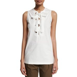 3.1 Phillip Lim Bohemian Sleeveless Lace-Front Top